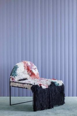 Summer-winter - hand-woven wollen chair