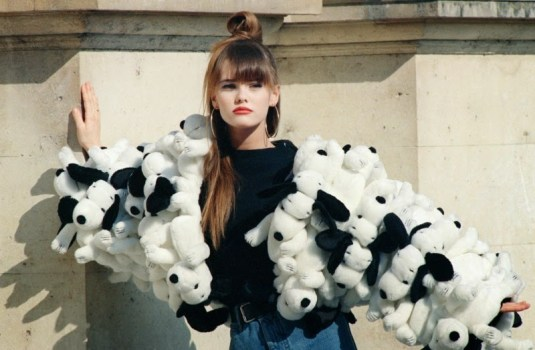Vanessa Paradis in Castelbajac's Snoopy jacket in 1988