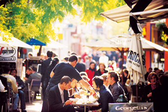 Cafes on Hardware Lane, Melbourne