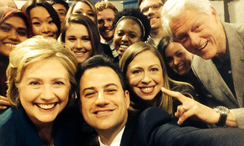 Hillary and Bill Clinton ussie