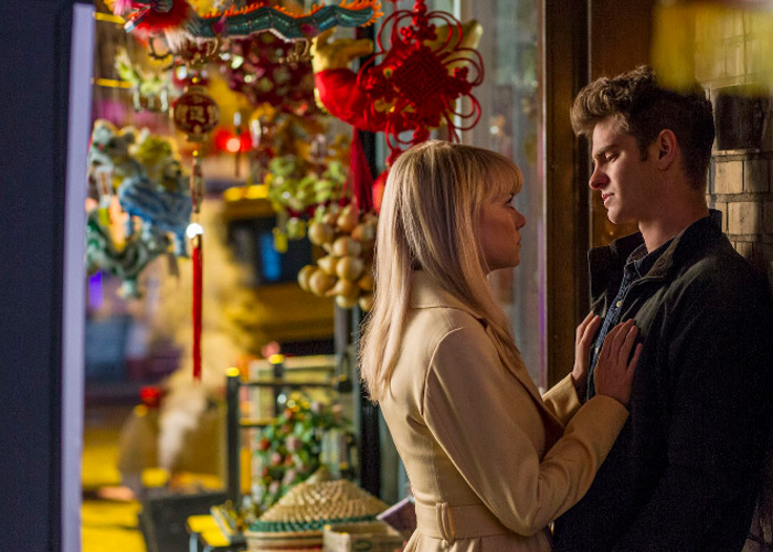 Andrew Garfield and Emma Stone in The Amazing spiderman 2