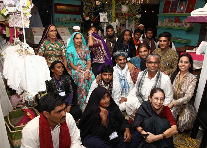 Anju Modi with Artisans in Gujarat – 1