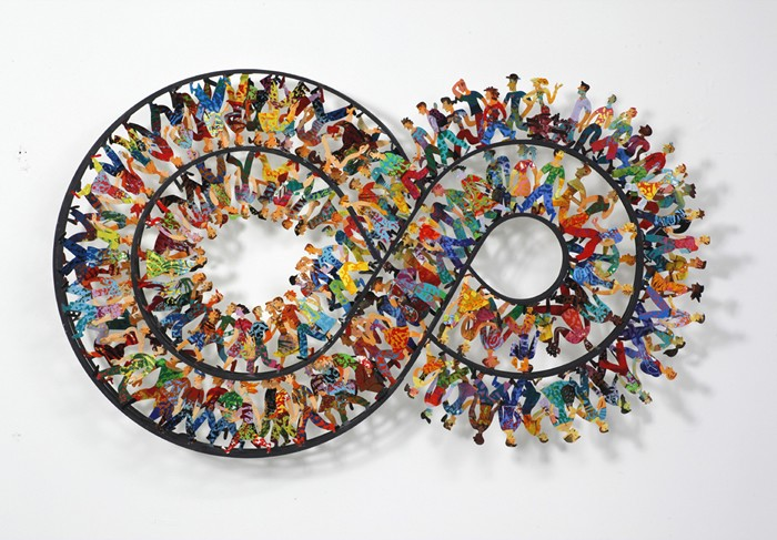 Infinity Tour, hand painted laser cut steel, 3 layers wall sculpture, limited edition of 150
