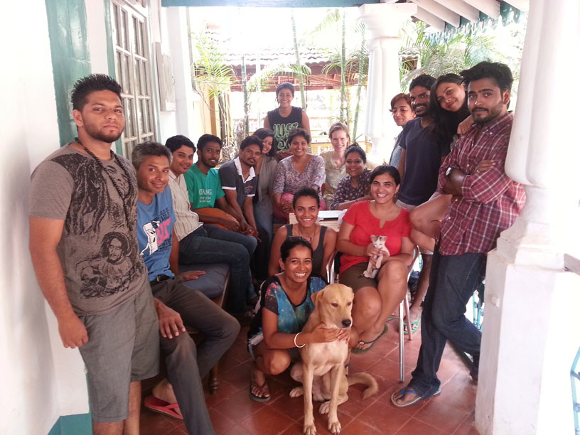 The Video Volunteers team in their Goa office