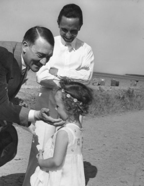 Hitler with Goebbels' daughter