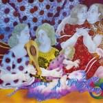 MAYA BURMAN, 'TENDER CARESS - II', WATERCOLOUR, PEN & INK ON PAPER, 19'' X 25'', 2014