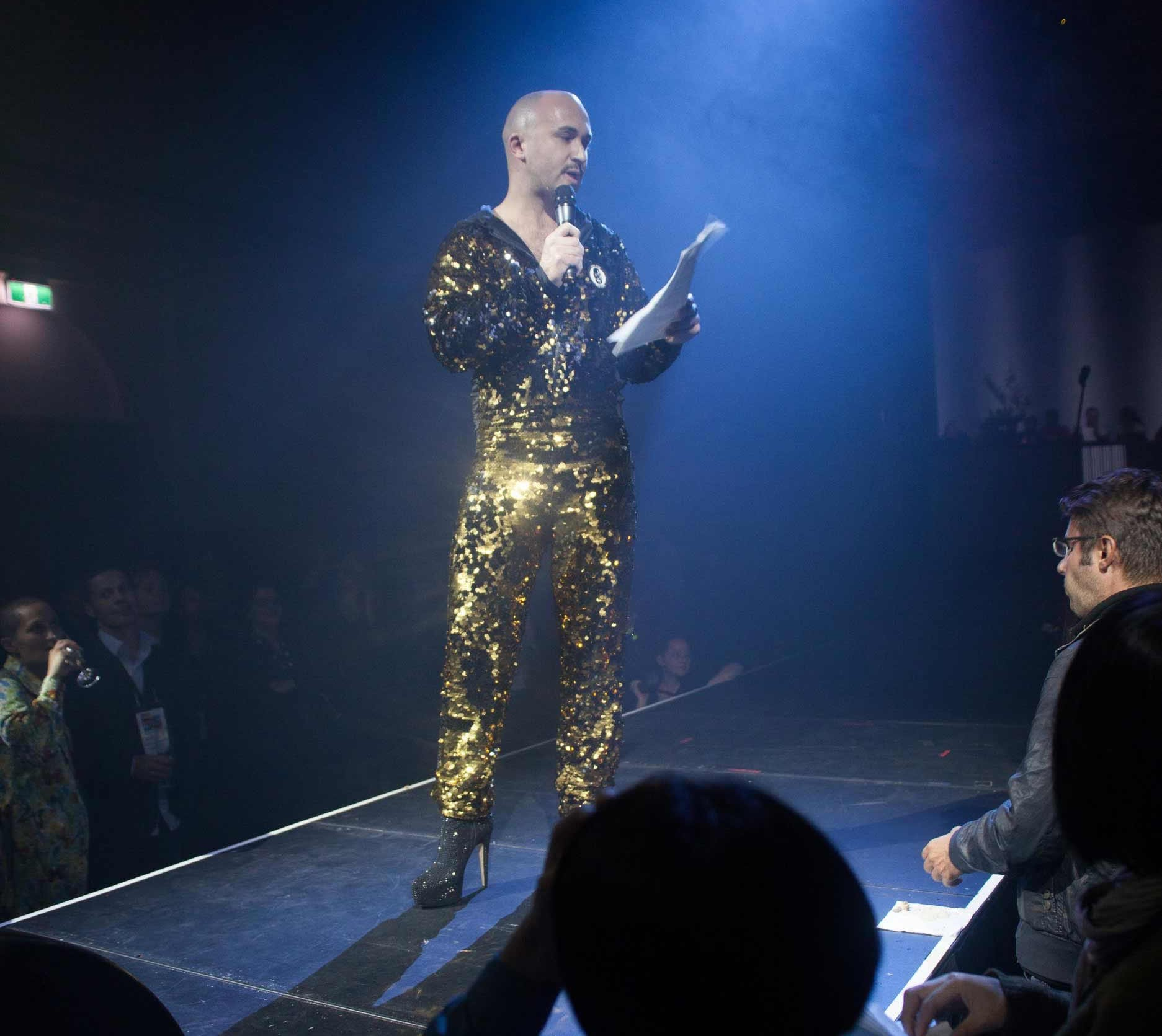 Tristan Meecham at the Arts House, Melbourne, performing The Artists, The Managers, The Money and Their Lovers