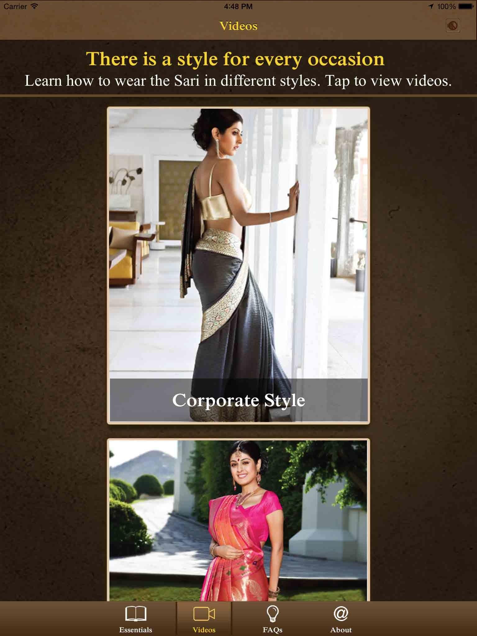 Kalpana Shah, Learn Sari,Technology, App