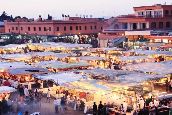 Djemaa El Fna: this gargantuan square is a UNESCO World Heritage site