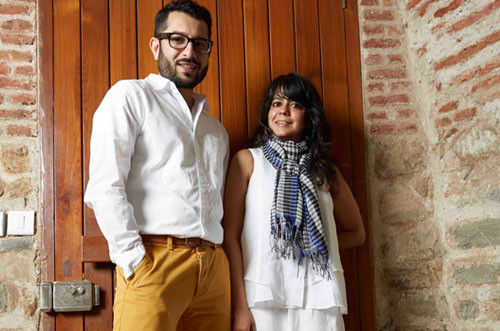 Gallerists Tara Lal and Mortimer Chatterjee