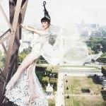 Jessica Minh Anh Live Stream Catwalk on Eiffel Tower J Autumn Fashion Show 2014