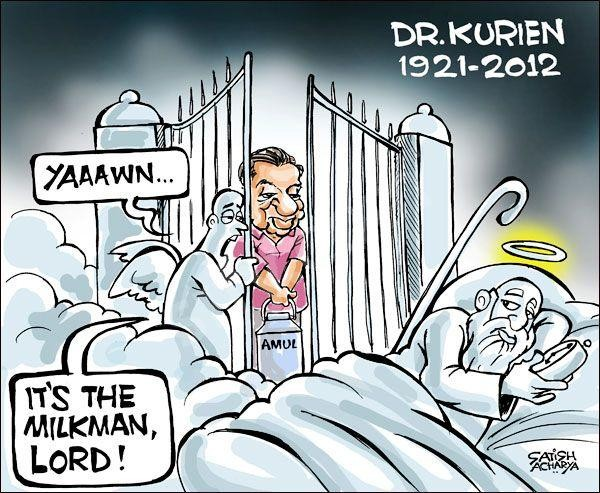 V Kurien, Satish Acharya, Cartoons, Cartoonists, Caricaturist Crowned