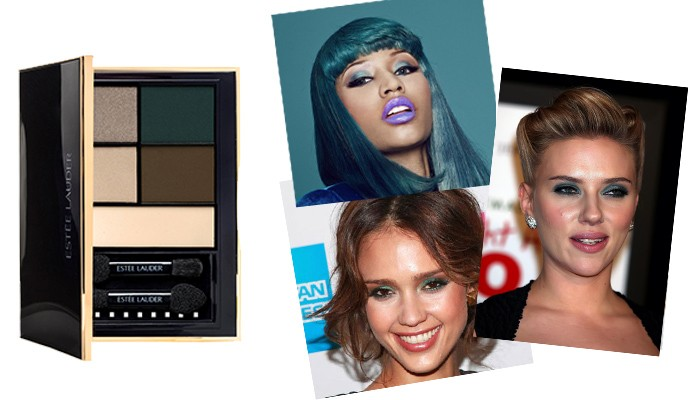 Untamed Teal estee lauder pure color envy eye shadow color palette caelebrity eyes make up nicki minaj jessica alba scarlett johansson