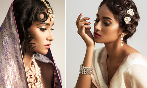 Verve beauty shoot wedding portrait mughal bridal make up