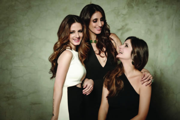 Sussanne Khan, Farah Khan Ali, Simore Arora in a behind the scenes video of the making of the Verve December 2014 cover shoot