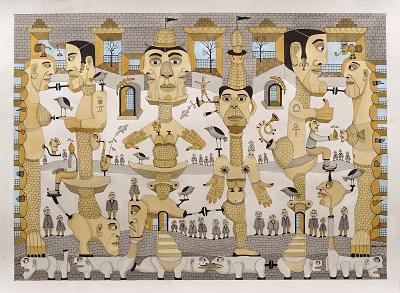 Happening by Haren Vakil at Artisans gallery, Mumbai