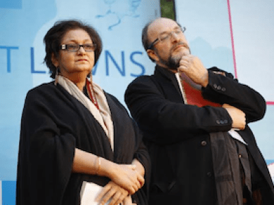 Namita Gokhale and William Dalrymple