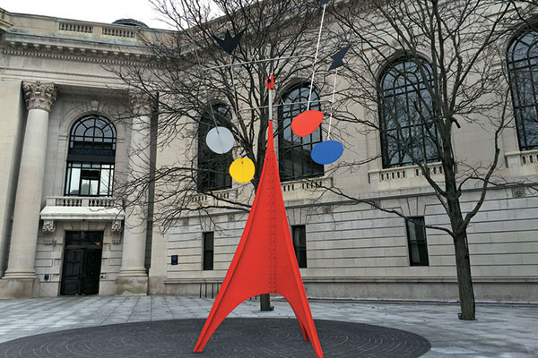 A Calder sculpture on the Yale University campus, Parmesh's Viewfinder