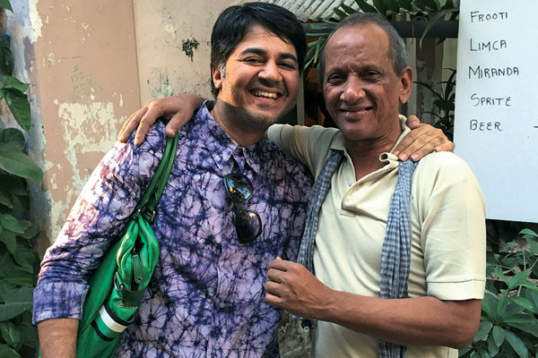 Parmesh Shahani with designer James Ferreira, one of the key Khotachiwadi festival organisers, Parmesh's Viewfinder