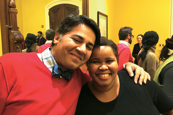 Parmesh Shahani with the South African politician Lindiwe Mazibuko, Parmesh's Viewfinder