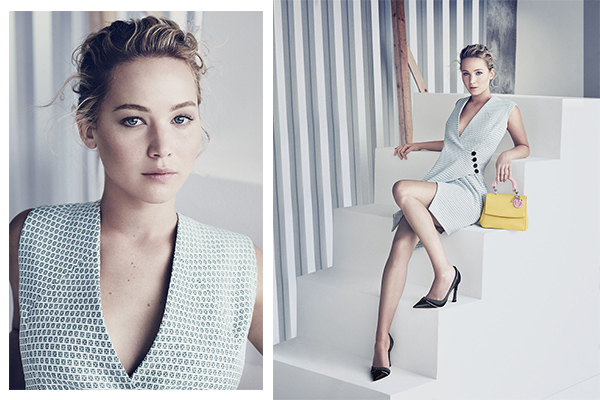 Be dior ad campaign with Jennifer Lawrence shot by Paolo Roversi