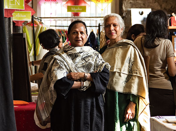 Designers Kavita Sanghi and Neena Somani of Khoj