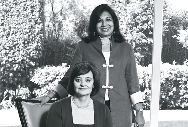 Cherie Blair, Founder, Cherie Blair Foundation for Women, Kiran Mazumdar Shaw, Chairperson, Biocon Ltd