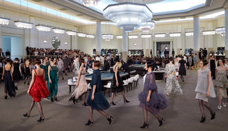 Chanel Haute COuture Fall winter show in paris by karl lagerfeld paris fashion week