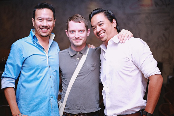Ryan Tham, Elijah Wood, Keenan Tham at The Good Wife Mumbai