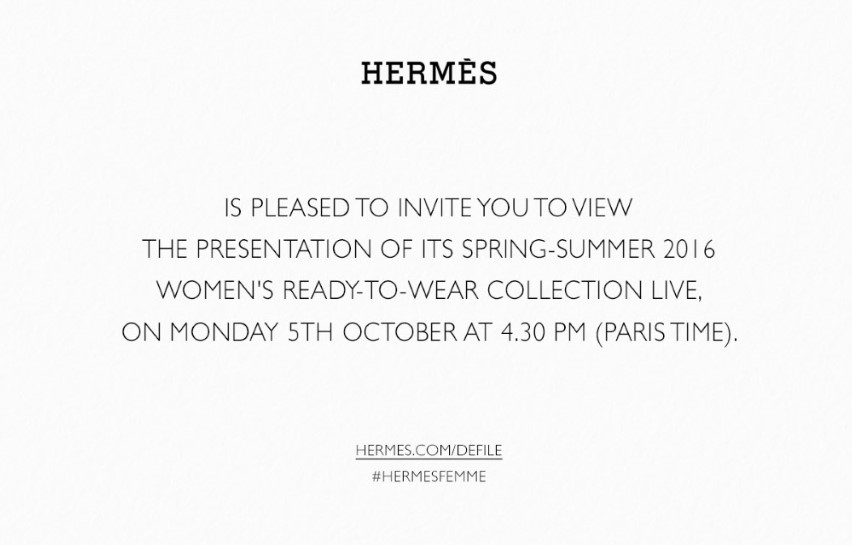 hermes spring summer ready to wear livestream watch it here