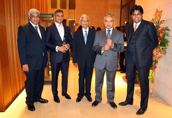 Umesh Ganjam, Kumar Ganjam, Eswar Ganjam, Kaushik Ganjam, Dushyanth Ganjam at the launch of Ganjam's flagship store in Bengaluru