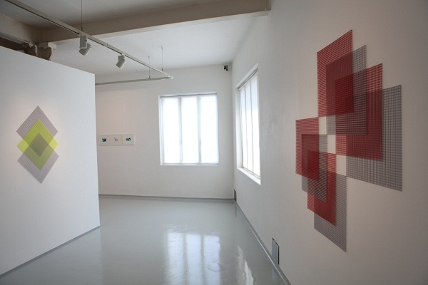 Installation view towards an infinite geometry at Jhaveri Contemporary Mumbai