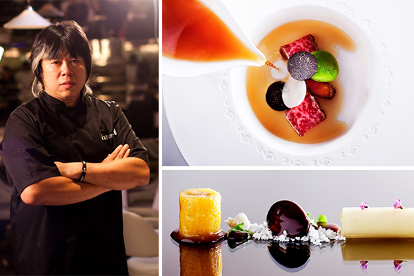 chef alvin leung for jw maritt michel pop up extreme chinese condom dish