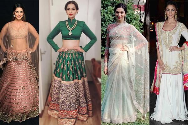 Indian looks of 2015 sonam kapoor alia bhatt deepika padukone