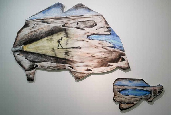 Artwork by Prabhakar Pachpute for Immateriality in Residue at Experimenter, Kolkata