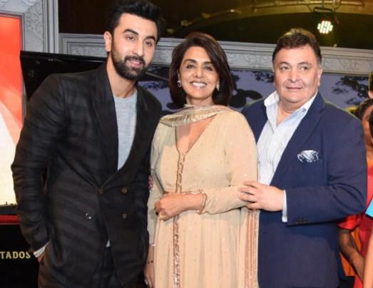 Ranbir Kapoor, Neetu and Rishi Kapoor, event, charity