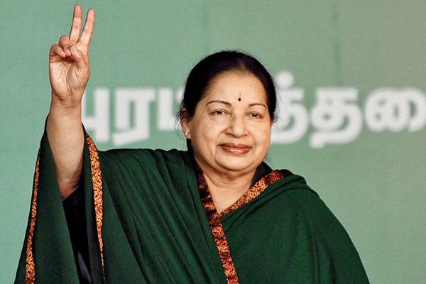 Jayalalithaa Jayaram, Chief Minister of Tamil Nadu