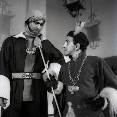 Volpone by Ben Johnson. Dir.E.Alkazi. E.Alkazi as Mosca, Theatre Unit, Bombay, 1959