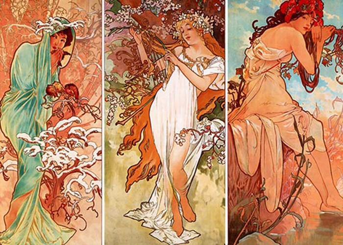 The Seasons, Alphonse Mucha, Varun Bahl,