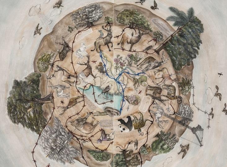 Chorus (2017) by Reena Kallat
