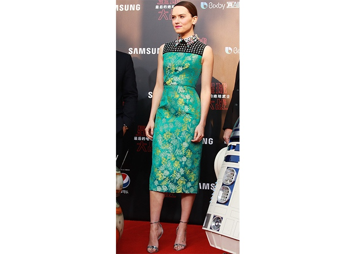 "Fashion, Featured, Online Exclusive, Red Carpet, Style, Daisy Ridley in Prada at the ""Star Wars – The Last Jedi"" Shanghai Premiere"