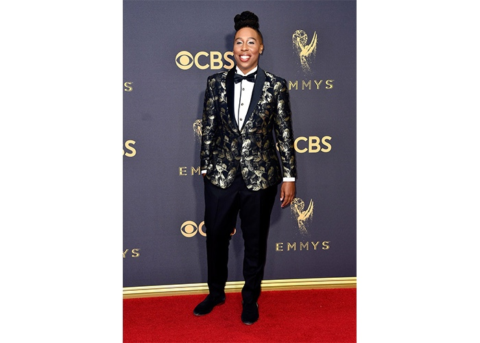 Fashion, Featured, Online Exclusive, Red Carpet, Style, Lena Waithe in ALBA Legacy Gold at the Emmy Awards