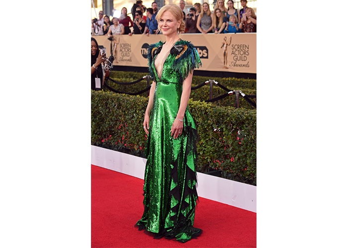Fashion, Featured, Online Exclusive, Red Carpet, Style, Nicole Kidman in Gucci at the Screen Actors Guild Awards
