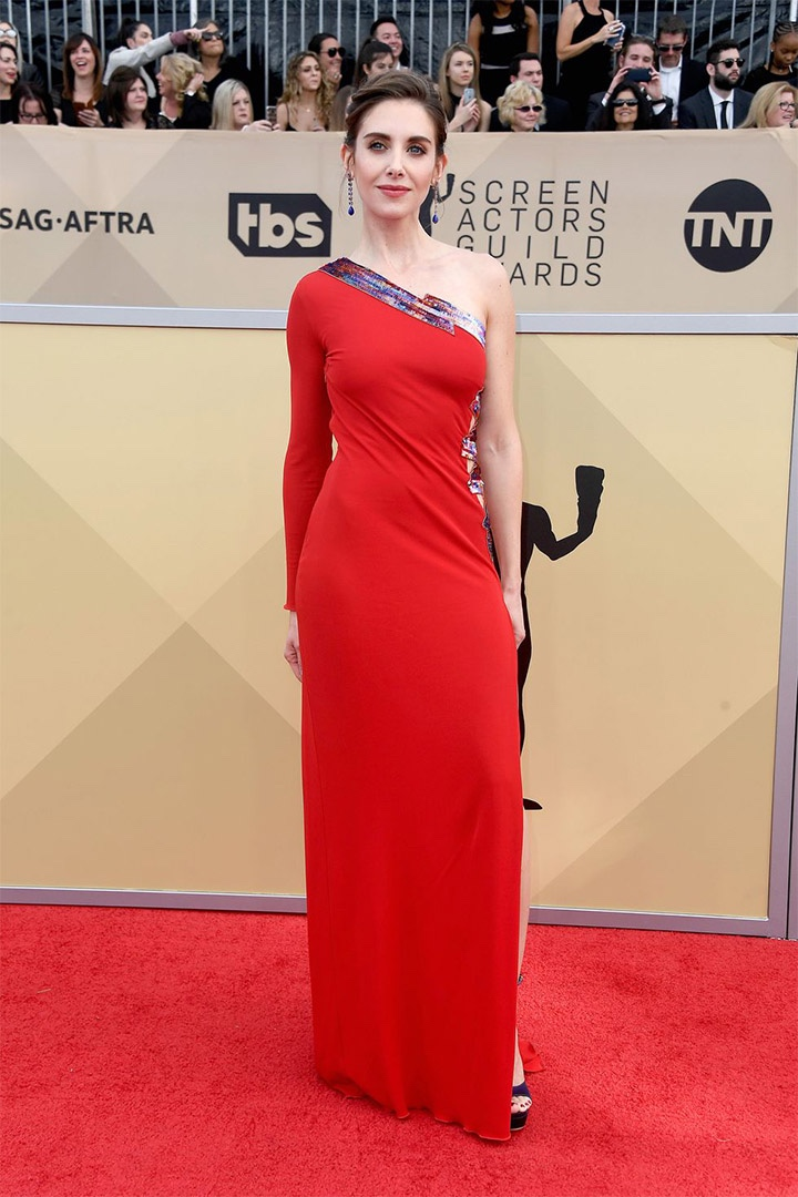 Alison Brie, Dundas, 2018, 24th Annual Screen Actors Guild Awards, Fashion, Featured, Online Exclusive, Red Carpet, SAG Awards, Screen Actors Guild Awards, Style