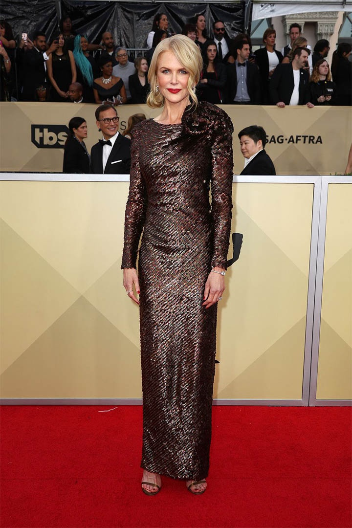 Nicole Kidman, Armani Privé, 2018, 24th Annual Screen Actors Guild Awards, Fashion, Featured, Online Exclusive, Red Carpet, SAG Awards, Screen Actors Guild Awards, Style