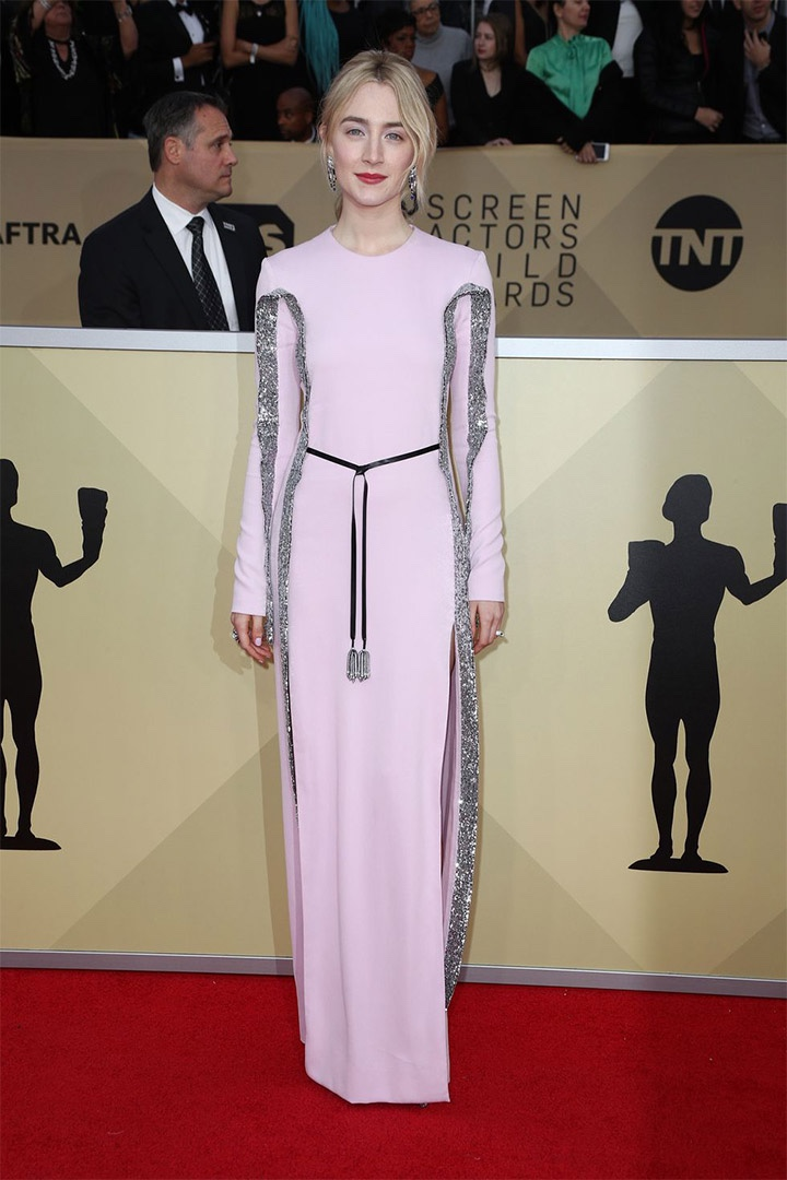 Saoirse Ronan, Louis Vuitton, 2018, 24th Annual Screen Actors Guild Awards, Fashion, Featured, Online Exclusive, Red Carpet, SAG Awards, Screen Actors Guild Awards, Style