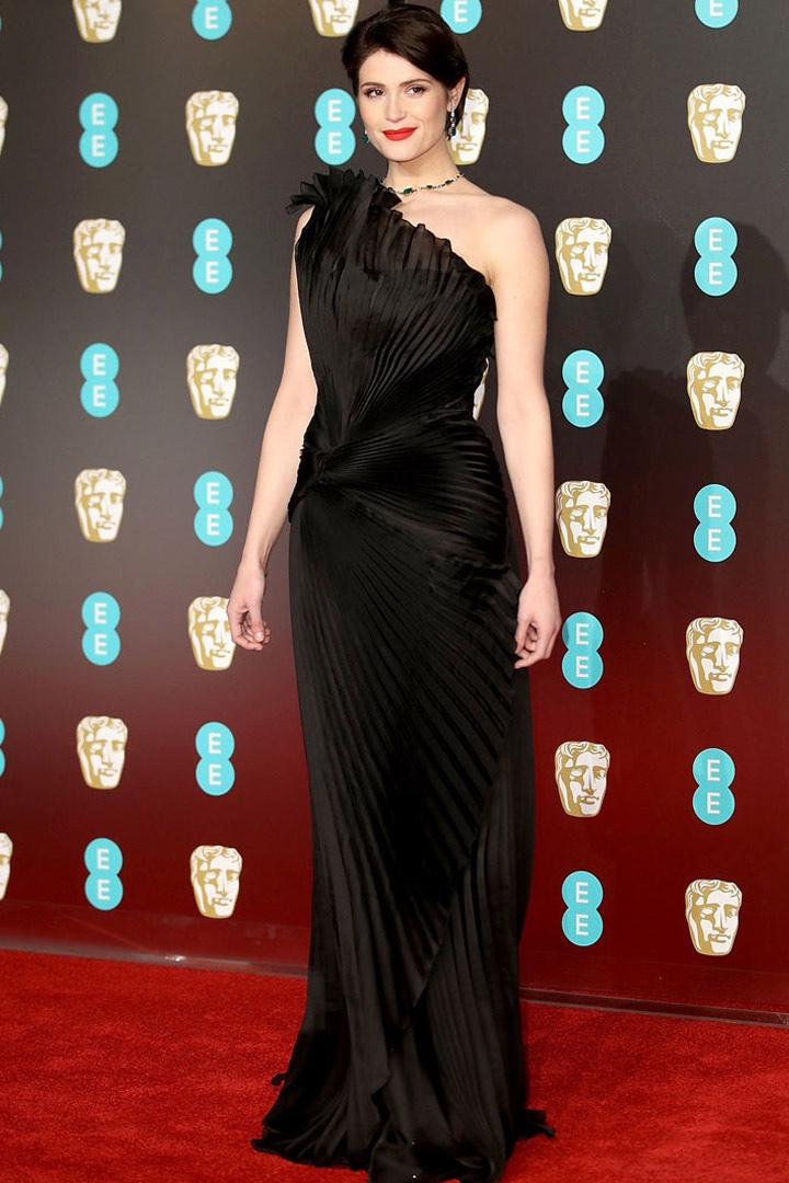 Gemma Arterton, Alberta Ferretti, Awards Show, BAFTA, BAFTAs 2018, Black, British Academy Film Awards, Cinema, Entertainment, Fashion, Featured, Film, Hollywood, Movies, Online Exclusive, Style, Time's Up