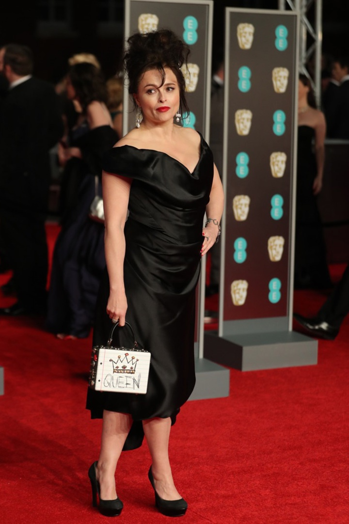 Helena Bonham Carter, Vivienne Westwood, Awards Show, BAFTA, BAFTAs 2018, Black, British Academy Film Awards, Cinema, Entertainment, Fashion, Featured, Film, Hollywood, Movies, Online Exclusive, Style, Time's Up