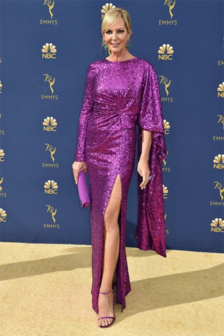 Allison Janney in Prabal Gurung, 70th Annual Primetime Emmy Awards, Betty White, Emmys 2018, Fashion, Featured, Glenn Weiss, Hannah Gadsby, highlights, Jav Svendsen, Online Exclusive, Style, The Marvellous Mrs. Maisel, top moments, We solved it, Diversity