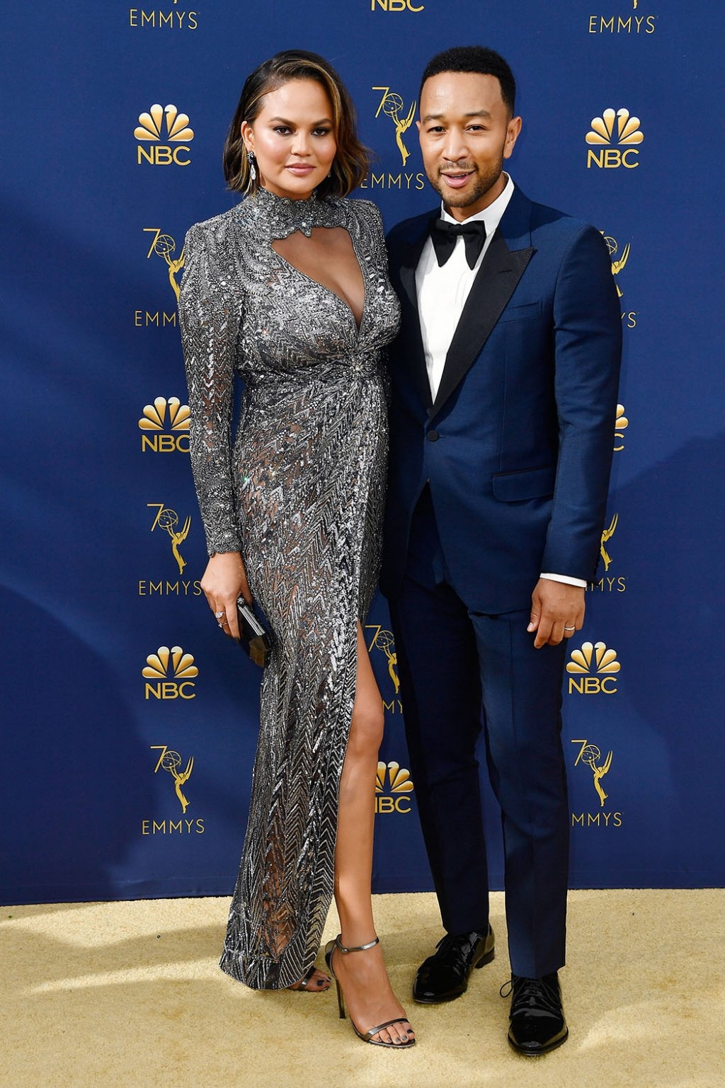 Chrissy Teigen in Zuhair Murad Couture with John Legend, 70th Annual Primetime Emmy Awards, Betty White, Emmys 2018, Fashion, Featured, Glenn Weiss, Hannah Gadsby, highlights, Jav Svendsen, Online Exclusive, Style, The Marvellous Mrs. Maisel, top moments, We solved it, Diversity